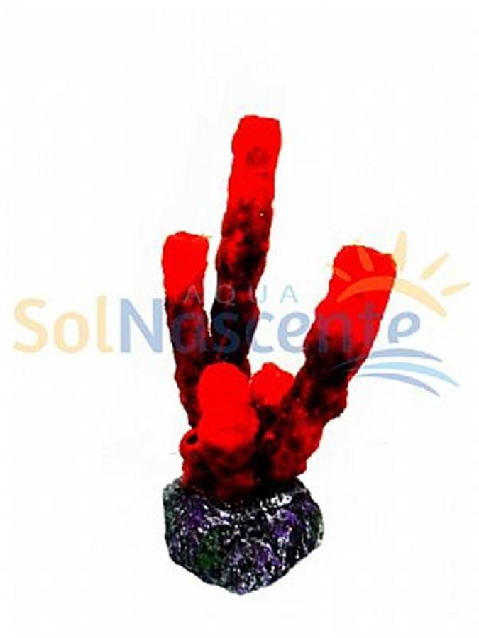 Artificial Coral Reef  Esponja Tubo Vermelha