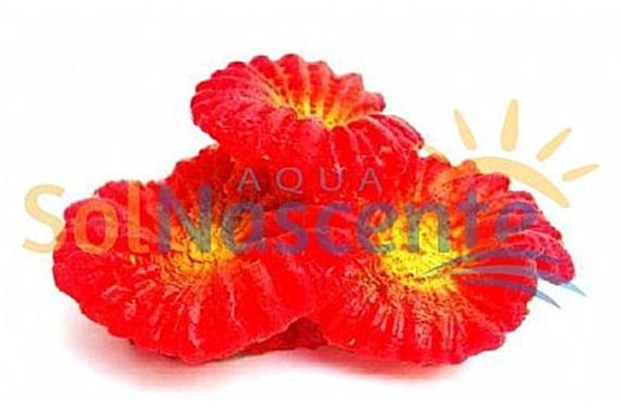 Artificial Coral Reef Plate Vermelho(Enfeite de Silicone e Resina)