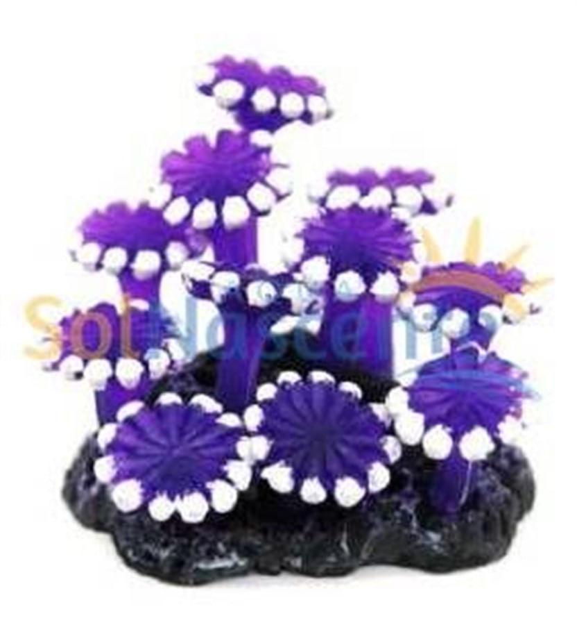 Artificial Coral Reef Zoanthus Palithoa Roxo(Enfeite de Silicone e Resina)
