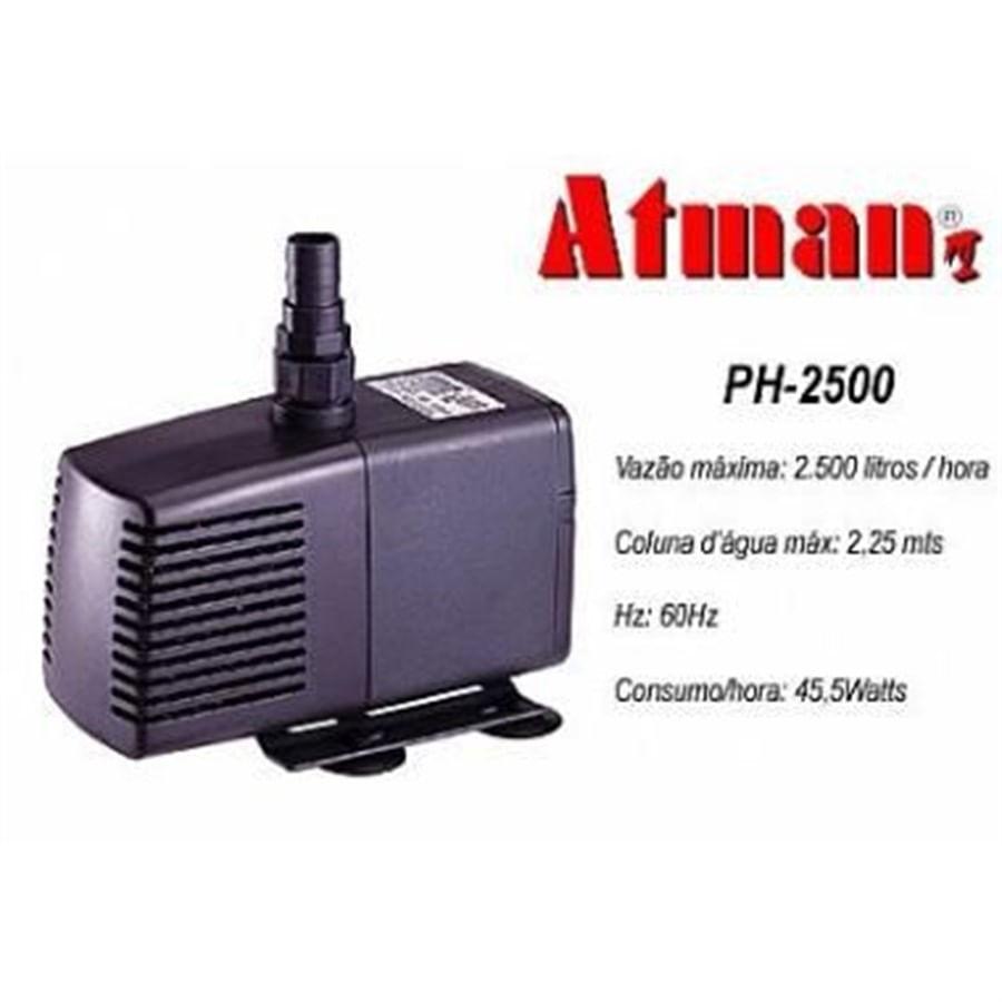 ATMAN PH-2500 - 2500L/H - Coluna d´água de 2,25m - Bomba. 220V