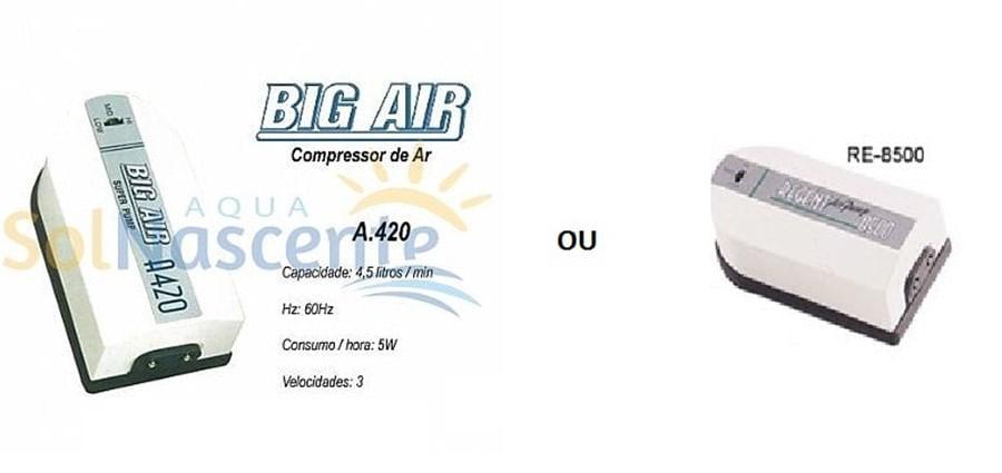 Big Air A420- 3 Velocidades/ 2 Saidas(MODELO REGENT AR 8500 ESTÁ DISPONÍVEL PARA VENDA)5