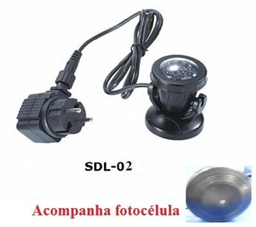 Boyu Iluminação LED Submersa para Lago 3.0W(2 LUMINÁRIAS EM 1 CONJUNTO) Modelo SDL-02 - 220V
