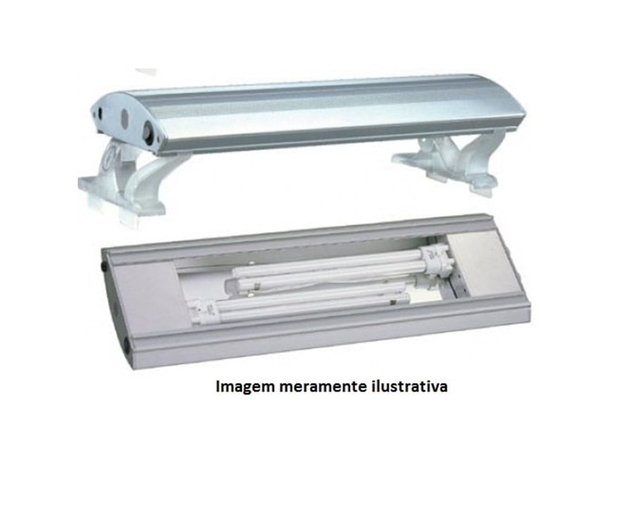 Boyu Luminária Fluorescente PLB-90 90cm PL 2x55w - 220V