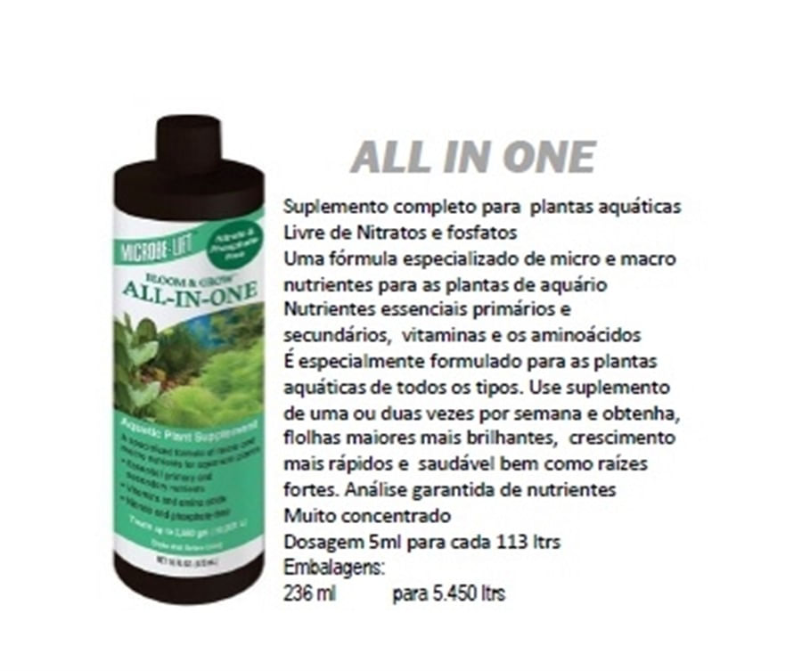 Ecological Microbe Lift All in one 236ml (plantado)