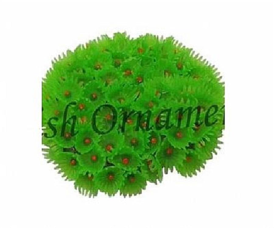 Enfeite de resina Soma Coral Zoanthus Colonia Verde