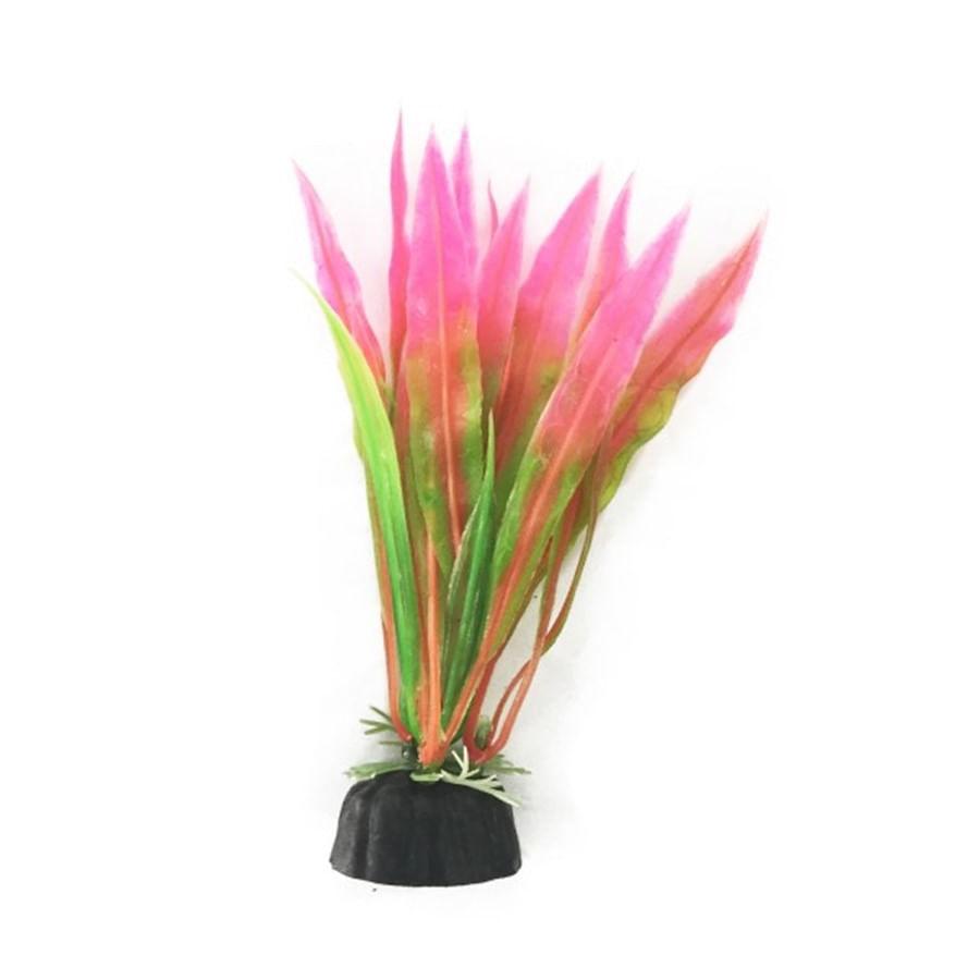 Planta Plastica Soma Rosa e Verde 10cm