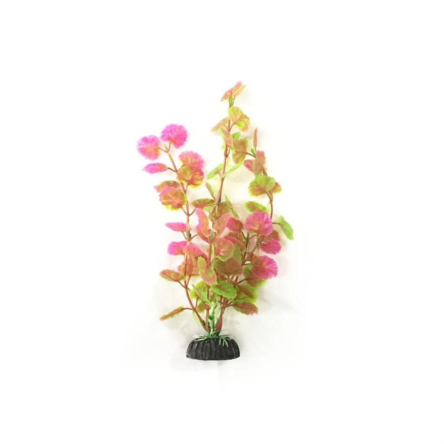 Planta Plastica Soma Rosa e Verde 20cm (MOD. 091)