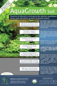 Prodibio Aquagrowth Soil Substrato P/ Aquário Plantados 9l + 1 Un.  BACTERKIT SOIL