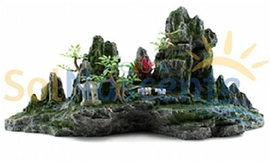 Soma Enfeite de Resina Montanha c/ Árvores