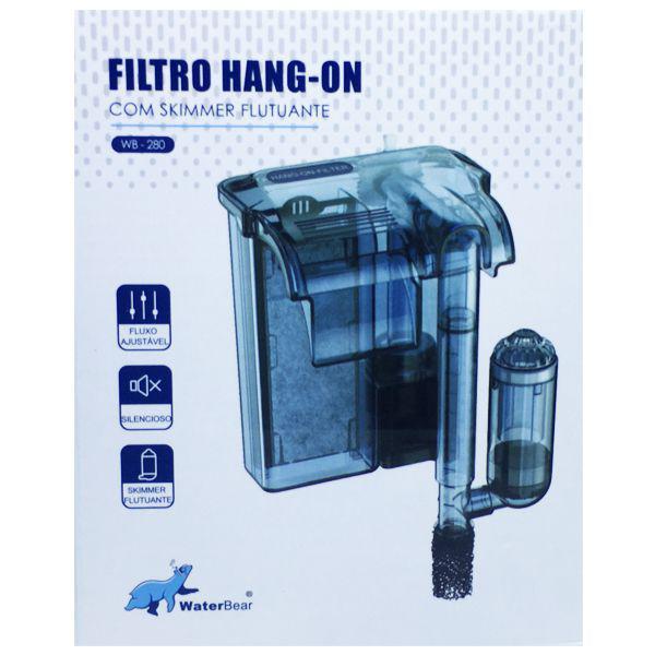 Waterbear Hang-on Filter Hb-280 280l/h 110v C/ Skimmer de superficie