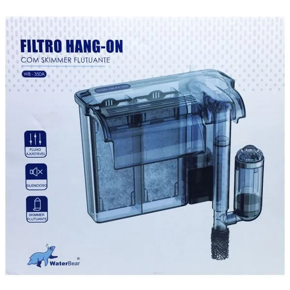 Waterbear Hang-on Filter Wb-350 350l/h 110v C/ Skimmer de superficie