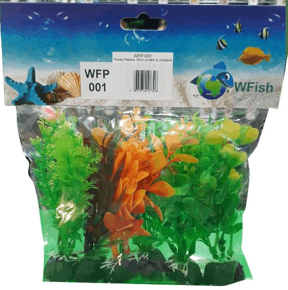 Wfish  Planta plástica 10 Cm ( Embalagem com 6 unidades )