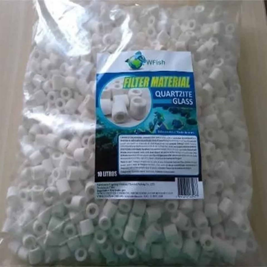 WFISH QUARTZITE Mídia Biológica Bio Glass 10Litros