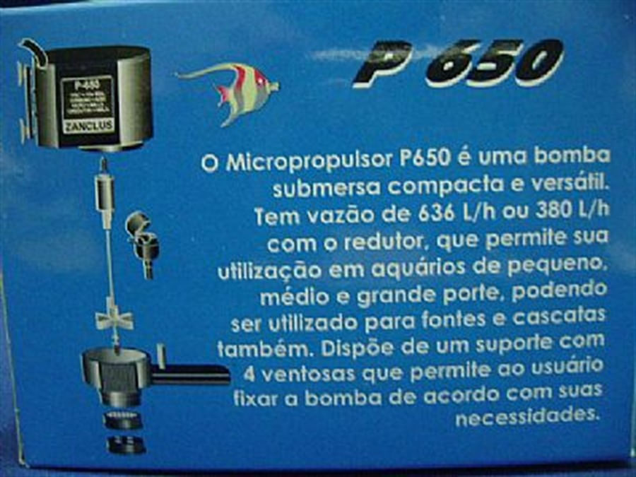 Zanclus Bomba Submersa  P-650 Micropropulsor 636 l/h 6,5w