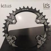 Coroa Ictus BCD 96 Assimetrica 36 T Preta