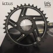 Coroa Ictus  HOLLOWGRAM Offset 6MM 34 T Preta