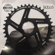 Coroa Ictus  HOLLOWGRAM Offset 6MM 38 T Preta