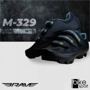 SAPATILHA MTB M-329 TAM 44 PRETO/VERDE/AMARELO (CM28015A-44)