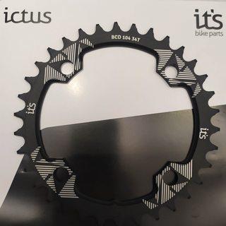 Coroa Ictus BCD 104 34 T Preta