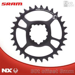 COROA SRAM NX EAGLE) DIRECT MOUNT 30T 3MM OFFSET PRETA_1