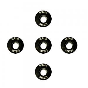 Parafuso de Coroa KIT com 5 pecas Preto