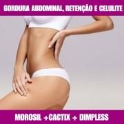 MOROSIL + DIMPLESS + CACTIX - GORDURA ABDOMINAL, CELULITE E RETENÇÃO LÍQUIDA
