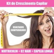 KIT NUTRICOLIN + LOÇÃO DE O2 HAIR E CAPILLIA LONGA - CRESCIMENTO CABELOS