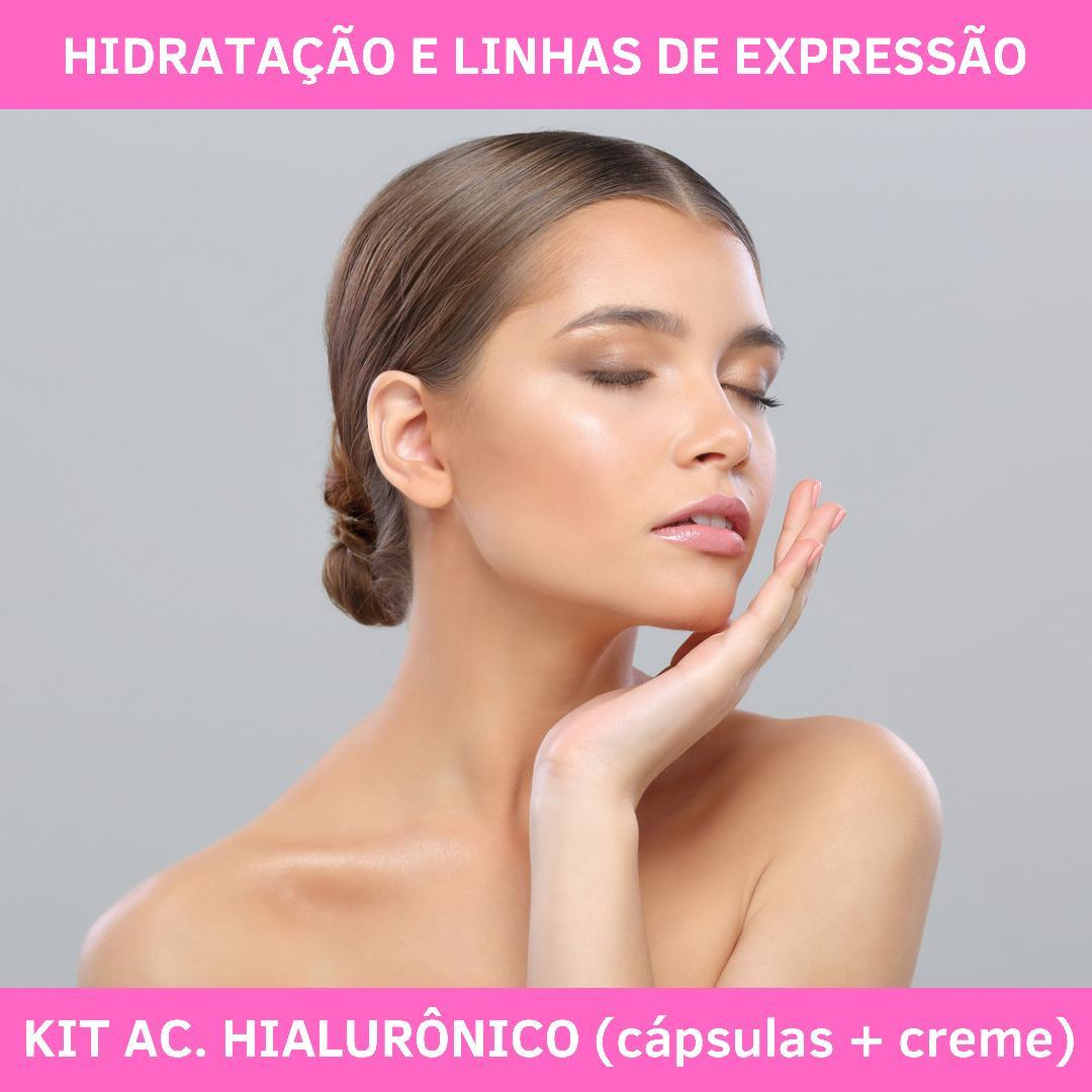 AC. HIALURÔNICO CÁPSULAS & CREME - HIDRATAÇÃO DE DENTRO PRA FORA