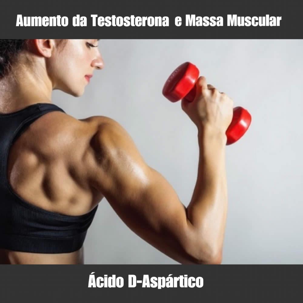 ÁCIDO D-ASPÁRTICO - GANHO DE MASSA MAGRA E AUMENTO DA TESTOSTERONA