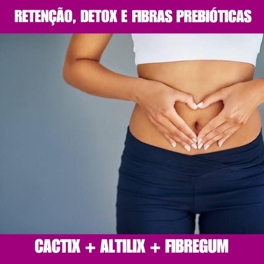 CACTIX + FIBREGUM - EMAGRECEDOR E DETOX