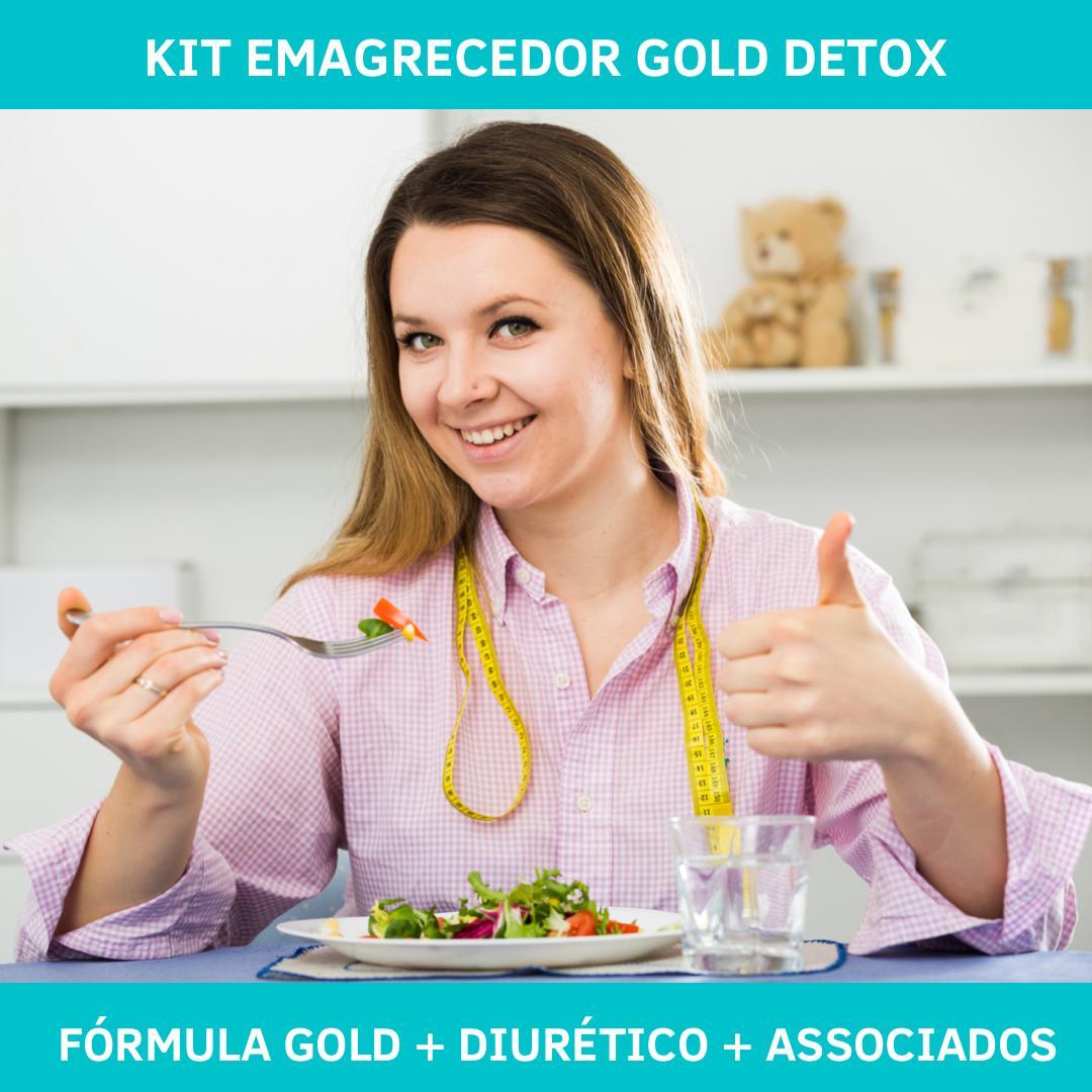 Kit Emagrecedor Gold Detox