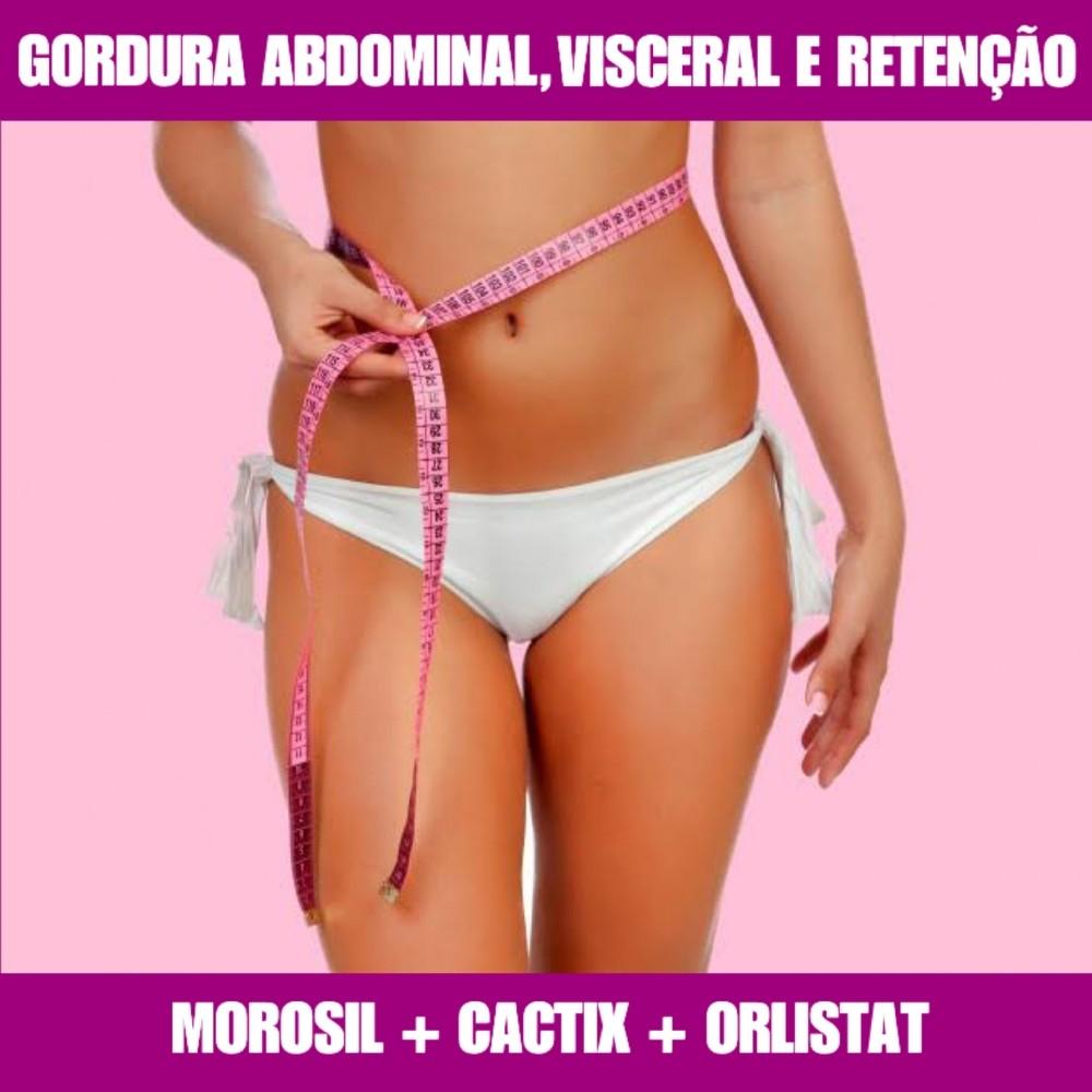 MOROSIL + CACTIX + ORLISTAT - GERENCIADOR DE PESO E PERDA DE MEDIDAS