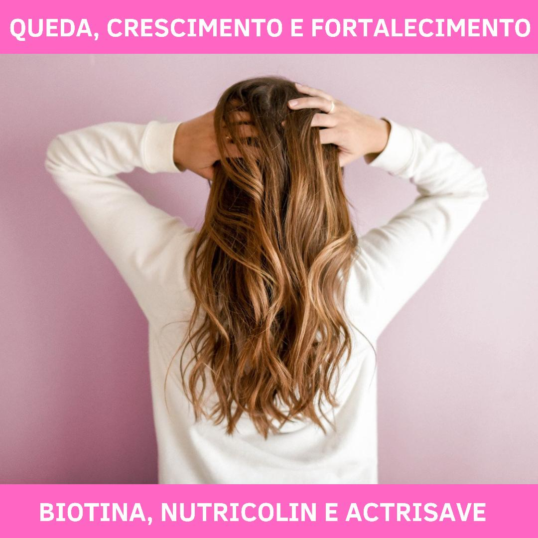 NUTRI HAIR - QUEDA, CRESCIMENTO E FORTALECIMENTO CAPILAR