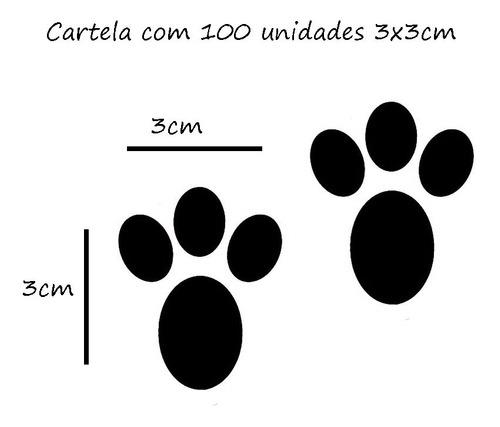 100 Adesivos Pegadas Patinhas De Coelho Páscoa Decoração