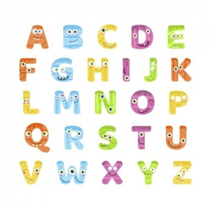 Adesivo de Parede Infantil  Alfabeto Monstros Letras de A a Z