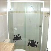 Adesivo de Banheiro Casal Sapos