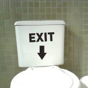 Adesivo de Banheiro Exit