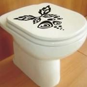Adesivo de Banheiro Floral WC