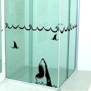 Adesivo de Banheiro Tubarão