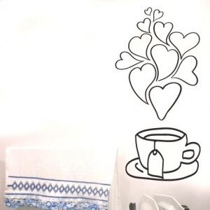 Adesivo de Cozinha Chá com Amor