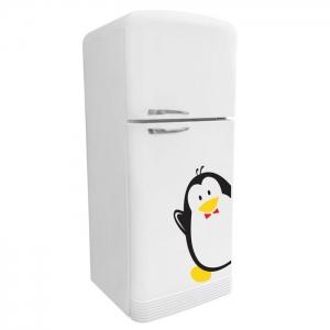 Adesivo de Geladeira KIT Casal Pinguim