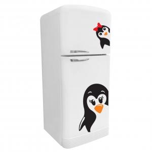 Adesivo de Geladeira Pinguim Mãe e Filha