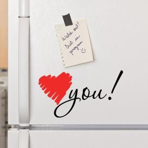 Adesivo de Geladeira Rabisco Love You