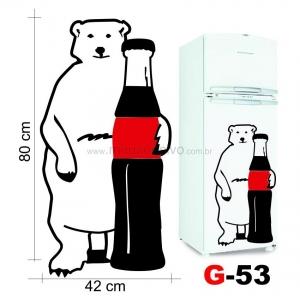 Adesivo de Geladeira Urso Polar de Frente