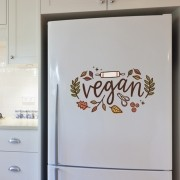 Adesivo de Geladeira Vegan
