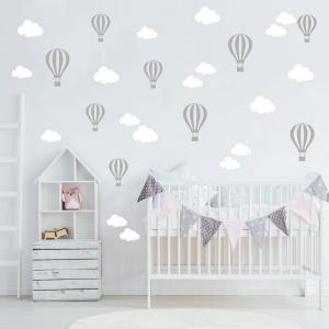 Adesivo de Nuvens e balões (kit 50 unidades