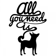 Adesivo de parede All You Need is Dogs