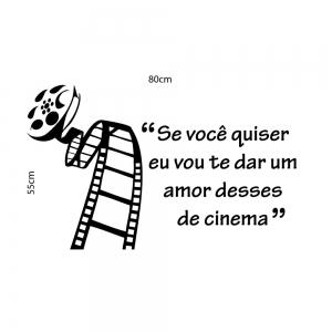 Adesivo de Parede Amor de Cinema