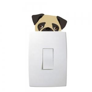 Adesivo de Parede Animal Series Pug