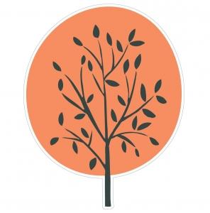 Adesivo de Parede Árvore Laranja
